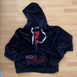 Fila velour hoodie